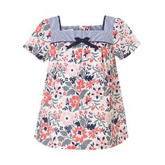 Buy John Lewis Girl Floral Print Cotton Top, Multi Online at johnlewis.com