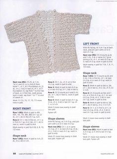 Crochetemoda: Casaqueto White Crochet