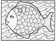 this fancy fish coloring book page is from our classic lets doodle book which is - Fish Coloring Pages