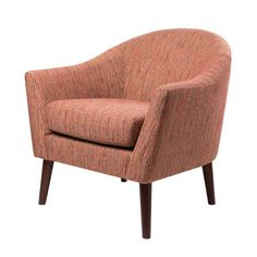 Grayson Red Mid Century Modern Accent Chair