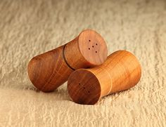 Modern Salt and Pepper Shakers Mesquite Wenge by RoundtheWoods