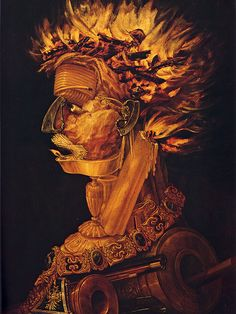 Guissepe Arcimboldo, Italian painter 1527-1593 from the elements series: FIRE oniric view