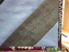 FRESH OFF THE SPOOL: Corner Quilt Label Tutorial