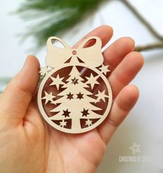 Sweet laser cut Christmas tree ornament / Christmas decorations / Christmas tree ornaments / Christmas gift ideas / Christmas home decor by DosheEcoDecorCharms on Etsy Top Christmas Gifts, How To Make Christmas Tree, Wood Christmas Tree, Christmas Tree Decorations, Christmas Tree Ornaments, Christmas Crafts, Holiday Tree, Xmas, Trendy Tree