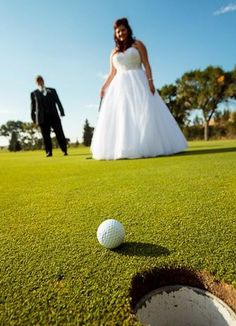 My dad is my golfing buddy so we made sure we captured this moment during my wedding this summer on the golf course we got married on!   8-25-2012