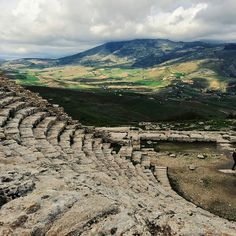 An old Greek amphitheater in Segesta, Sicily (Italy). This site is one of the best preserved Greek archaeological sites in the Mediterranean. www.instagram.com/jsovs