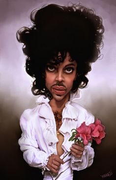 Caricatura do Prince. Cartoon Faces, Funny Faces, Cartoon Art, Caricature Artist, Caricature Drawing, Funny Caricatures, Celebrity Caricatures, Black Art Pictures, Roger Nelson