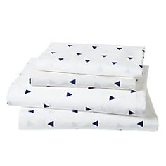 View larger image of Full Little Prints Sheet Set (Blue Triangle)