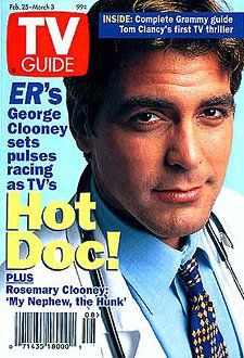 classic TV Guide covers..George Clooney..ER