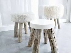 Modern Log Furniture Adding Chic Eco Friendly Products to Interior Design and Decor – diy Interior design Concrete Stool, Concrete Furniture, Log Furniture, Modern Furniture, Furniture Design, Furniture Ideas, Antique Furniture, Plywood Furniture, Wood Stool