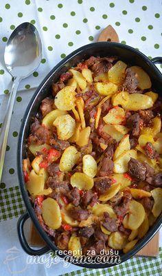 Bosnian Recipes, Croatian Recipes, Italian Recipes, Kiflice Recipe, Pork Recipes, Cooking Recipes, Best Food Ever, Pork Dishes, Healthy Salad Recipes