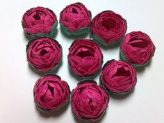 Paper Cabbage Roses--tiny and easy to follow the directions.