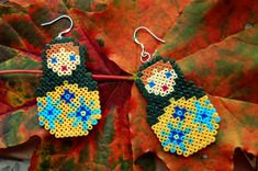 Matryoshka earrings (mini hama beads)