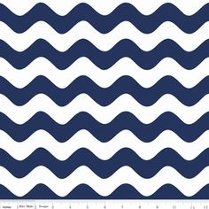 Riley Blake Designs - Home Decor Basics - Wave in Navy