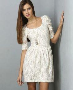 Lace White Dress