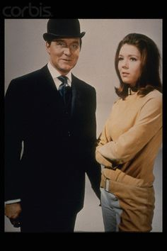 The Avengers: promotional still of Patrick Macnee as John Steed Diana Rigg as Emma Peel.