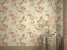 DR3071-Non Woven Vintage Flower Wallpaper for Home bedroom WallPaper,57square feets/roll