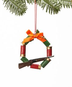 Holiday cheer for those who love hunting. This ornament will be a treasured addition to the tree, and it transitions to a year-round display piece suitable well after the season ends.