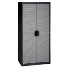 Vysoká plastová policová skříň JUMBO 4 dvoudvéřová pro snadnou manipulaci s věcmi ve skříni. Tall Cabinet Storage, Police, Furniture, Home Decor, Decoration Home, Room Decor, Home Furnishings, Home Interior Design, Law Enforcement