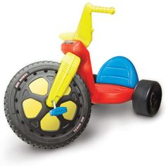 50 Hot Outdoor Toys Your Kids Will Love This Summer: THE ORIGINAL BIG WHEEL CLASSIC TRICYLCE: $48, amazon.com Go ahead, get nostalgic. The tricycle you used to tear down the sidewalks on in your youth is still rolling for your kids, too. With its oversized, 16-inch front wheel, and low-to-the-ground seating, the Original Big Wheel is just as much fun as you remember.