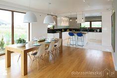 Duża otwarta jadalnia w salonie, styl nowoczesny - zdjęcie od Epoca-Pracownia Projektowa