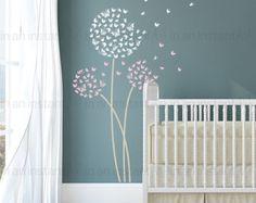 Kinderzimmer wandgestaltung schmetterling  Wandtattoo Baum Vögel Schmetterlinge Kolibri M1535 | Produkte