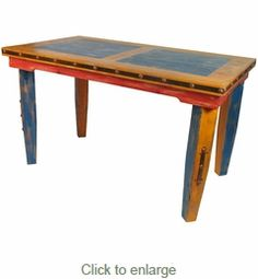Tall Multi Color Dining Table Mexican Country Style