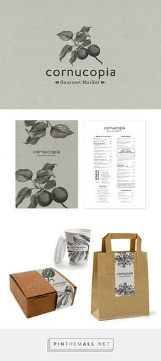 Cornucopia Gourmet Market Packaging and Menu Design by Progress | Fivestar Branding Agency – Design and Branding Agency & Inspiration Gallery