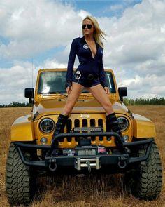68 Ideas Sexy Cars For Women Vehicles Jeep Wrangler Girl, Jeep Wrangler Unlimited, Jeep Wranglers, Jeep Suv, Jeep Truck, Jeep Winch, Trucks And Girls, Car Girls, Big Trucks