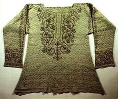 Knitted silk shirt, 16th century. new to me - need to find more information and verification.