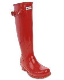 Hunter Original Gloss Tall Wellington Boots Red