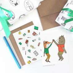 Huzzah! Sign up for our newsletter for sales! . . Newsletter > http://bit.ly/2hMAMEG  #cards #congratulations #illustration #animals #quirky #whimsical #hellosmallworld