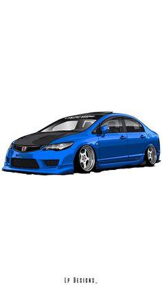 Jdm Wallpaper, Blue Wallpaper Iphone, Honda Civic Hatchback, Honda Civic Si, Tuner Cars, Jdm Cars, Lion Images, Script Typeface, Applis Photo