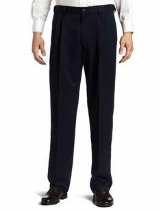 Esast Mens Autumn Work-to-Weekend Hidden Expandable-Waist Corduroy Plain-Front Pant