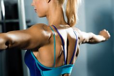 toned back muscle