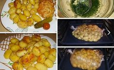 Potatoes for the holiday table — quick, tasty, beautiful! Gourmet Recipes, Cooking Recipes, Good Food, Yummy Food, Blue Food, Peeling Potatoes, My Best Recipe, Potato Dishes, Russian Recipes
