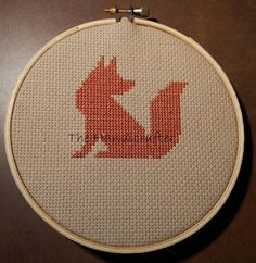 Fox Cross Stitch Pattern от TheHandicrafter на Etsy