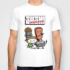 Sushi Revolution T-shirt by kioshishimabuku - $18.00
