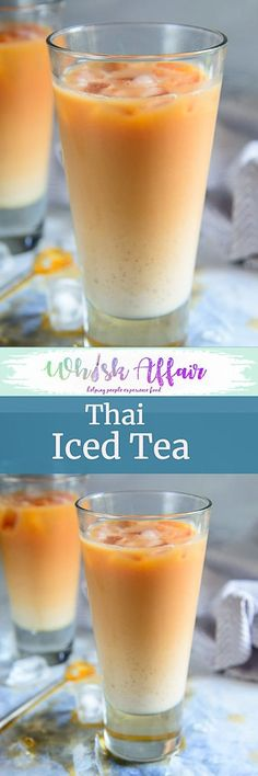 Learn how to make Authentic Thai Iced Tea from scratch using this very simple recipe. The resulting tea is refreshing, creamy and packed with flavours that are very authentic. Here is how to make it. #Thai #Iced #Tea #Drink #Beverage via @WhiskAffair
