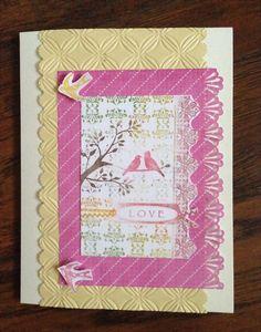 Handmade Paper Love Greeting Card Blank Inside by Scrapbooker429, $4.25  https://www.etsy.com/listing/193584606/handmade-paper-love-greeting-card-blank