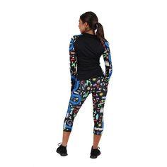 Black Run London 2020 Capri Famous Landmarks, Capri, Pajama Pants, Leggings, London, Running, How To Wear, Collection, Black