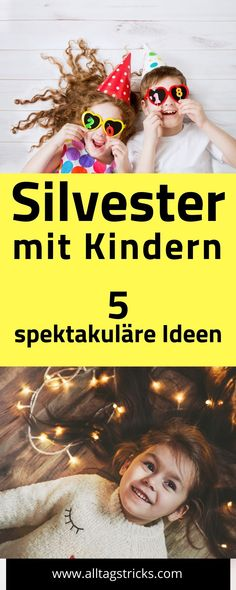 Silvester mit Kindern feiern Exceptional New Year's Eve ideas for children, New Year's Eve with children, New Year's Eve Kids. New Years Decorations, Christmas Decorations To Make, Christmas Diy, New Years Eve Games, New Years Eve Party, Eve Children, Diy And Crafts, Crafts For Kids, Game Themes