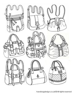 Handbag / Purse design illustration sketch drawing / Hand rendering by Emily O'Rourke at Coroflot.com