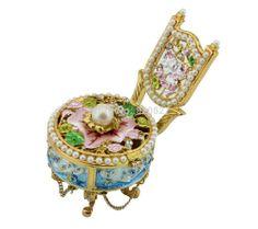 2cc1c8642a1 sale blue floral crystal design sofa pewter keepsake trinket box  zinc sofa jewelry  box for sale