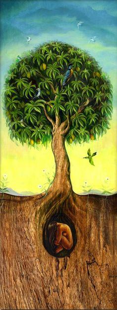 """Druids Trees:  """"#Tree of Life,"""" by David Joaquin."""