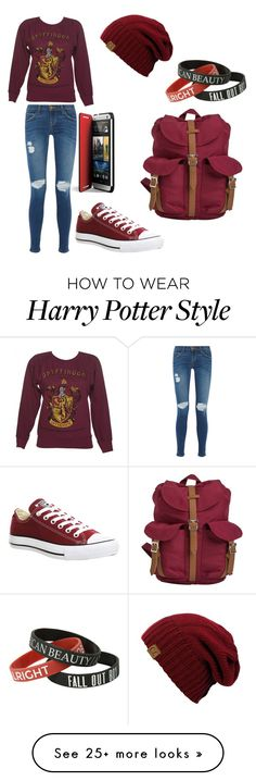 """"""""""" by cs1999 on Polyvore featuring Current/Elliott, Converse and Herschel Supply Co."""