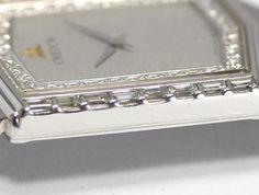 セイコー クレドール 5A74-5020 K18WG無垢 ダイヤベゼル メンズ_画像8