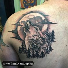 The 85 Best Wolf Tattoos For Men Improb for sizing 736 X 1104 Back Shoulder Wolf Tattoo - Trying to find shoulder tattoo design is definitely not an easy Wolf Tattoos Men, 12 Tattoos, Hip Tattoos Women, Life Tattoos, Body Art Tattoos, Tattoos For Guys, Cross Tattoos, Tatoos, Geometric Wolf Tattoo
