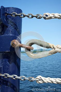 Photo about The closing end of a ferry s rope gate made of three strand rope back spliced with thimbles and chain and an eye splice with a metal thimble. Image of strand, port, rope - 73564362 John Muir, Thimble, Ropes, Nursery Room, Marines, Closer, Gate, Door Handles, Room Ideas