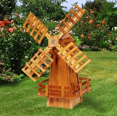 A classic windmill for any outdoor space! #outdoordecor #windmill #cabinfield